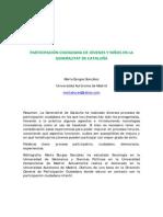 PARTICIPACIÓN CIUDADANA DE JÓVENES Y NIÑOS EN LA GENERALITAT DE CATALUÑA