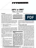 NPV or IRR - Why Not Both