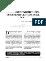 ANALISIS ECONOMICO DEL TURISMO RECEPTIVO EN EL PERU