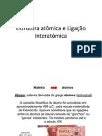 Aula 2 - Estrutura Atômica e Ligação Interatômica