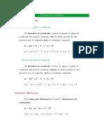 Algebra 9º