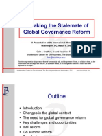 Breaking the Stalemate of Global Governance Reform