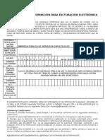 Formulario Para Facturación Electrónica