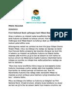 Press Release Swahili- FNB Mbezi Beach Branch