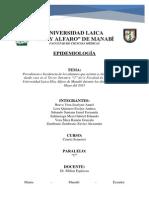 Epidemiologia Trabajo de Frecuencia e Incidencia