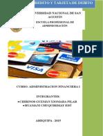 Tarjeta de Credito y Tarjeta de Debito