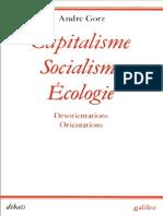 Capitalisme Socialisme Ecologie Andre Gorz