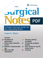 Surgical Notes a Pocket Survival Guide