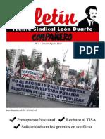 Boletín Frente Sindical León Duarte Agosto 2015