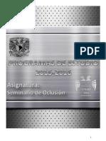 Seminario de Oclusión 2015 - 2016