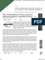 70 Mil Millones Industria Defensa Brasil