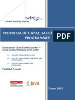 Propuesta Comercial Java Se7 Programmer Trimestral - Enero 2015