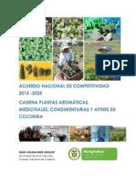 Acuerdo Nacional de Competitividad Cadena Plantas Aromáticas y Mediconales COlombia