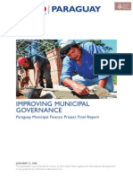 Paraguay Usaid Proyecto de Financiación Municipal