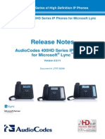 LTRT-08266 400HD Series of IP Phones for Microsoft Lync Release Notes Version 2.0.11