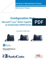 LTRT-11322 400HD Series IP Phones for Microsoft Lync BToE Configuration Note