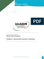 Unidad 1. Desarrollo Humano y Libertad