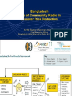 Role of Community Radio in Disaster Risk Reduction in Bangladesh