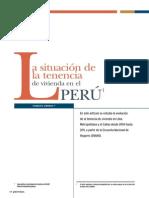 Tenencia de Vivienda Peru