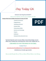 Current Affairs PDF (June 2015) by DayTodayGK