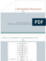 Predicting Formation Pressures