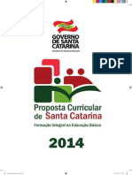 Proposta Curricular Final SC 2014