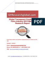 Global Transparent Conductive Films Industry 2015 Market Research Report