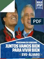 Programa de Gobierno Mas Ipsp 2015 2020