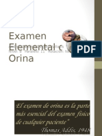 Examen Microscopico y Elemental de Orina