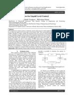 Design of Controllers for Liquid Level Control