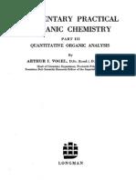 Vogel - Elementary Quantitative Organic Analysis