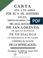 Carta Del Padre Soler