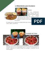 Opciones Alimentarias Para Escolares