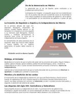 Momentos Del Desarrollo de La Democracia en México