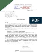Deman Letter Sample