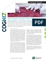High-Velocity Supply Chains for Perishables