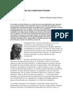 Idea de Constructivismo. Ricardo López Pérez