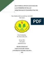 Paper Permasalahan Sosial Budaya Dan Solusi Dalam Islam