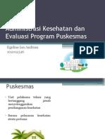 Administrasi Kesehatan Dan Evaluasi Program Puskesmas