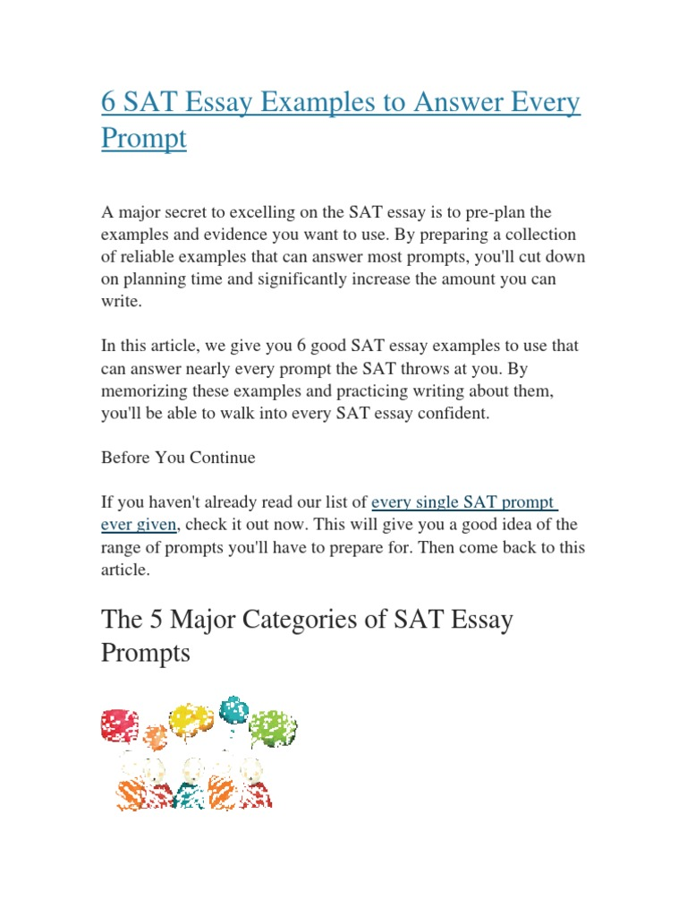 examples to use in sat essay - Examples To Use For Sat Essay