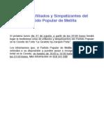 Cena de Afiliados y Simpatizantes del Partido Popular de Melilla