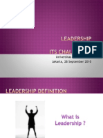 Leadership & Its Challenges (28092010)