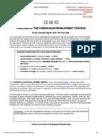 Curriculum Development, process explained