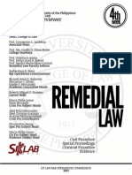 UP Bar Reviewer 2013 Remedial Law