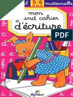 Cerf Volant - Parascolaire - Mon Cahier d'Ecriture - Special Maternelle - 3-6 Ans - Zecol