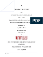 Chartered Accountant Firm Internship Report