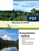 Welcome to CIFOR Updated 2014