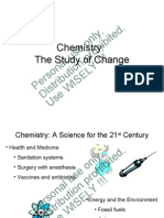 ITT Chng Ch 01 Chemistry the Study of Change