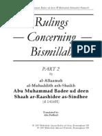 Rulings Concerning Bismillah