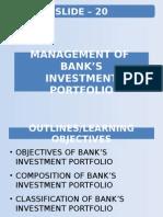 Slide-20-Management of Bank's Investment Portfolio